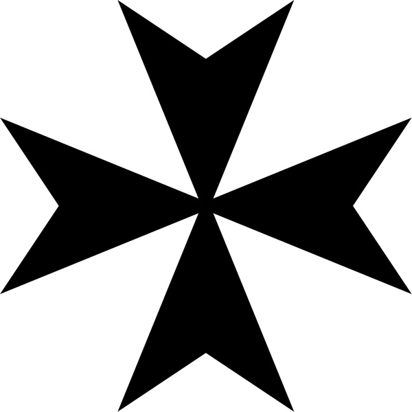 600x600 Maltese Cross Free Vector In Open Office Drawing Svg ( .svg