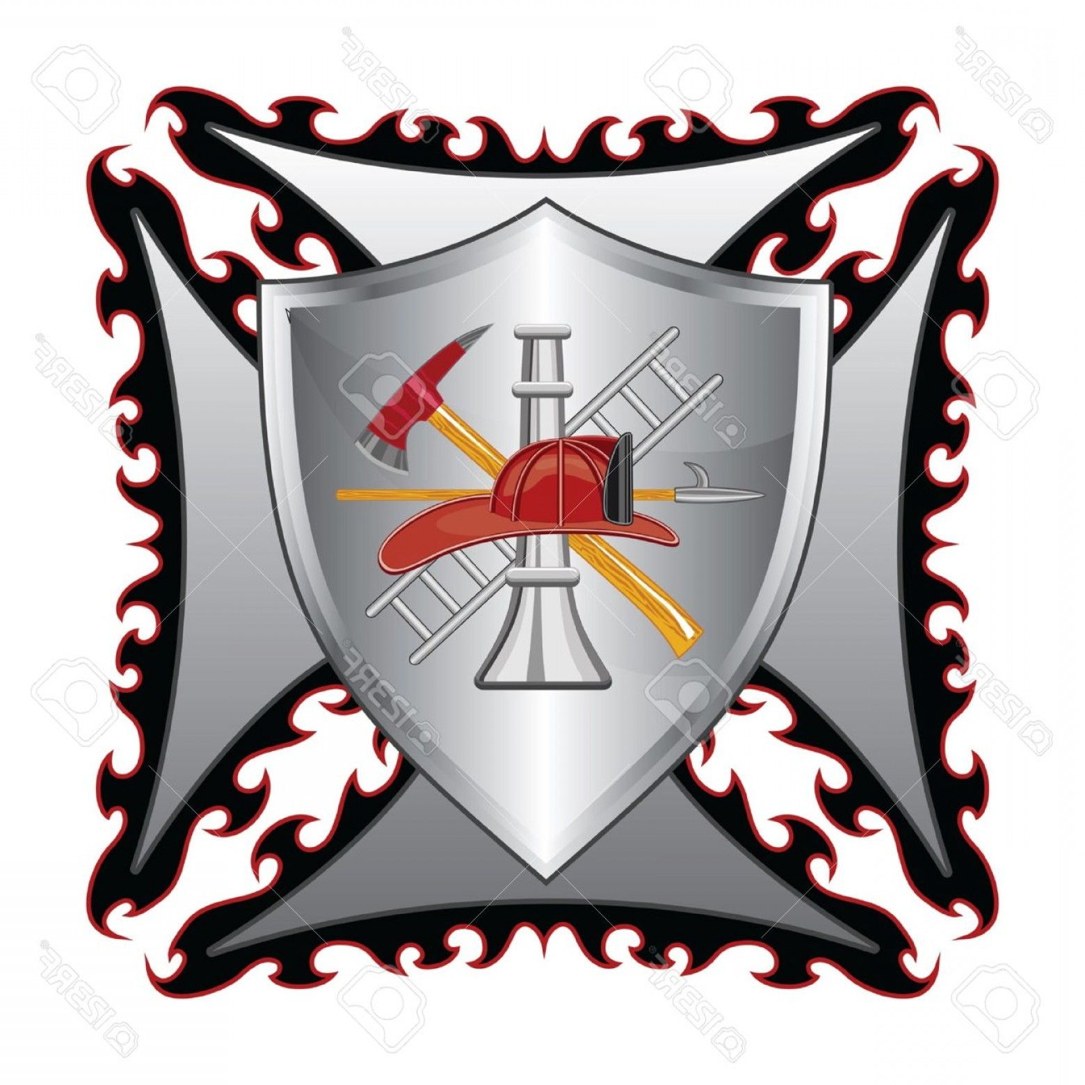 1560x1560 Fire Department Maltese Cross Vector Free Orangiausa