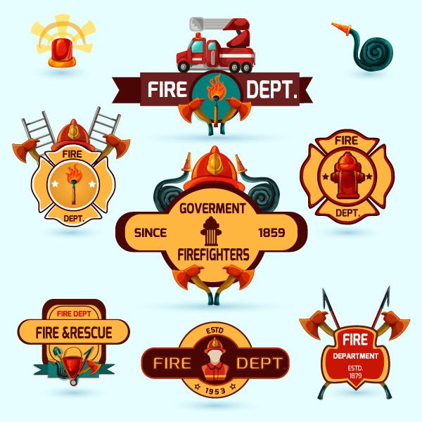 600x600 Preview 9 Fire Dept Logo Vector