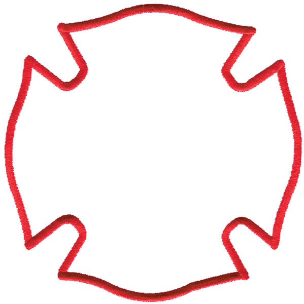Fire Dept Maltese Cross Vector