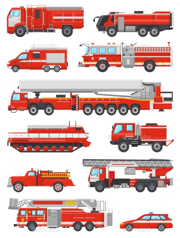 590x778 Fire Engine Vector Firefighting Emergency Vehicle By Vectoristik