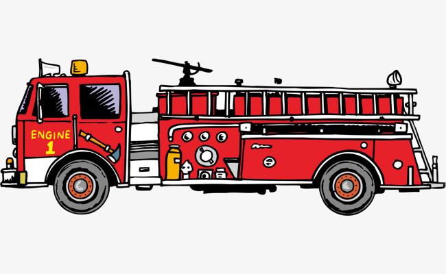 650x400 Fire Truck Png Vector Element, Fire Vector, Truck Vector, Truck