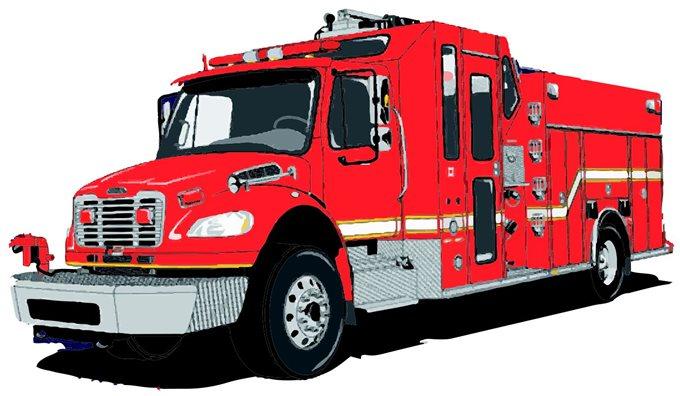 680x396 Fire Truck Clipart Vector