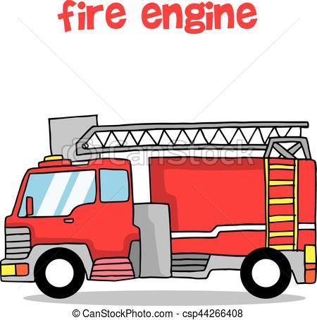 450x453 Fire Engine Transportation Collection Design Vector Illustration.
