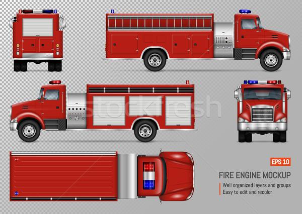 600x426 Fire Truck Vector Template Vector Illustration Yurischmidt