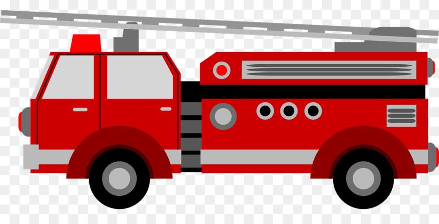 900x460 Car Fire Engine Vector Graphics Clip Art Image