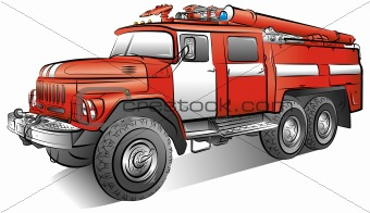 340x196 Image 4142393 Drawing Of The Russian Color Fire Engine, Vector