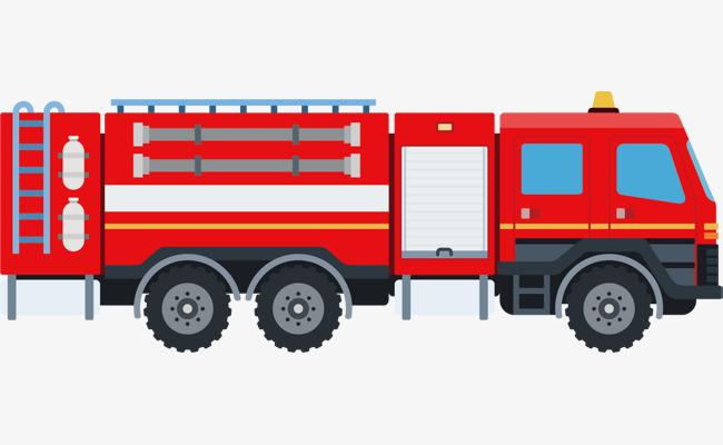 650x400 Red Fire Truck Vector, Fire Vector, Truck Vector, Truck Clipart