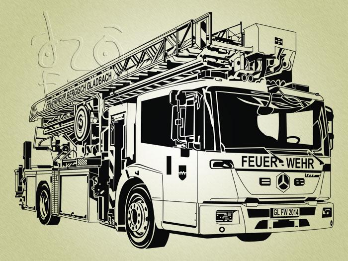 700x525 Fire Truck Line Art Vector By Ndop