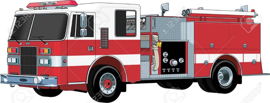 1024x393 Fire Truck Vector Free Fire Engine Illustration Royalty Free