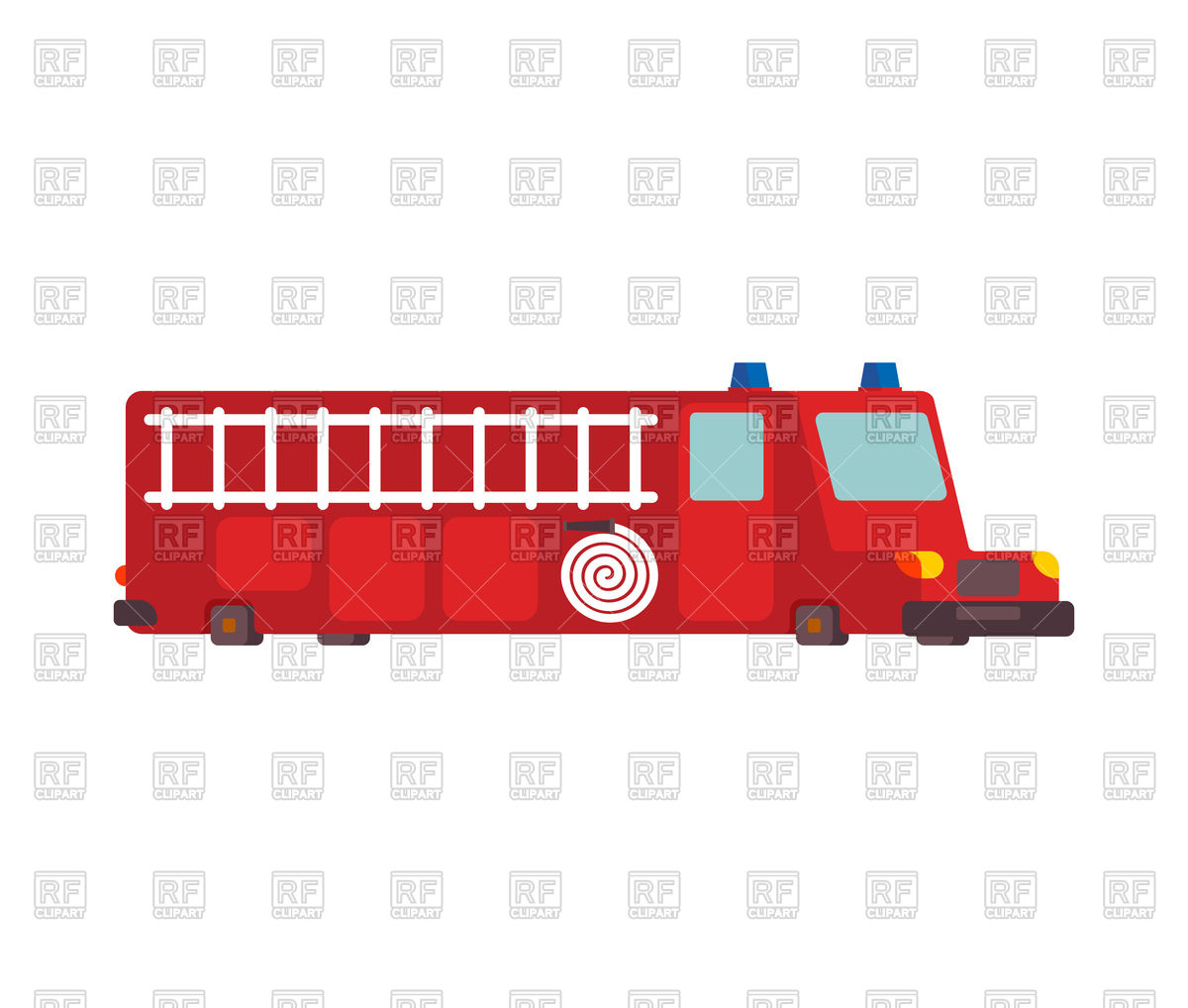 1200x1018 Cartoon Fire Engine Car On White Background Vector Image Vector