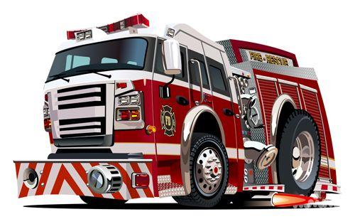 500x308 Cartoon Fire Truck Vector Material 11 Coole Autos