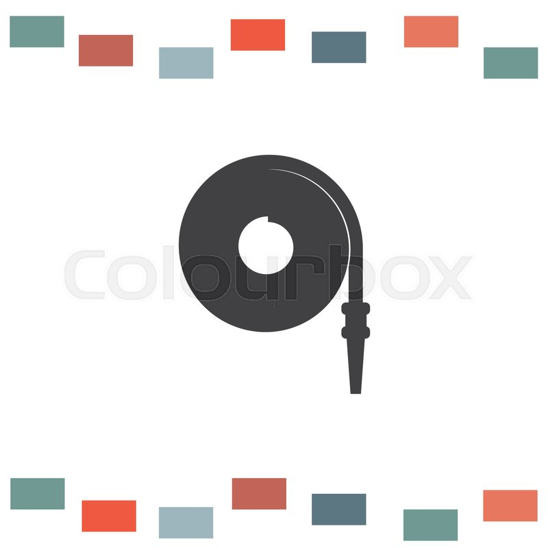 800x800 Fire Hose Vector Icon. Firefighting Equipment Sign. Flame