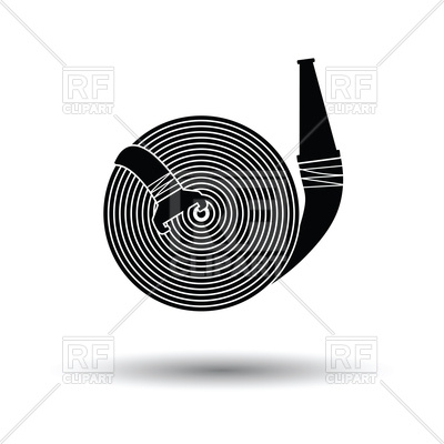 400x400 Fire Hose Icon With Shadow Design Vector Image Vector Artwork Of