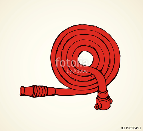 500x458 Fire Hose. Vector Drawing Stock Image And Royalty Free Vector