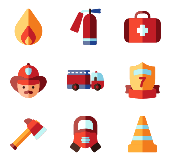 600x564 Fire Extinguisher Icons