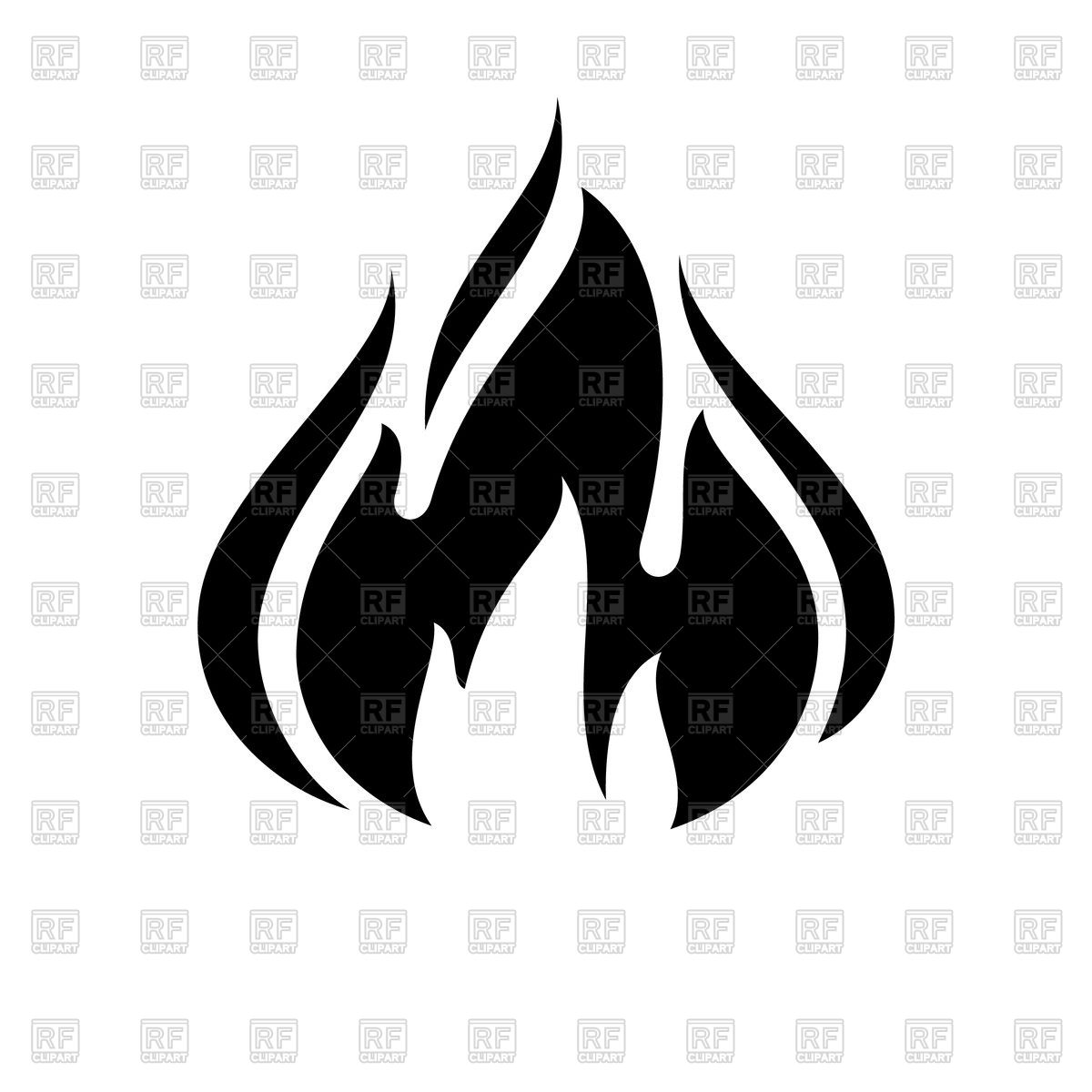 1200x1200 Fire Flame Black Icon Vector Image Vector Artwork Of Icons And