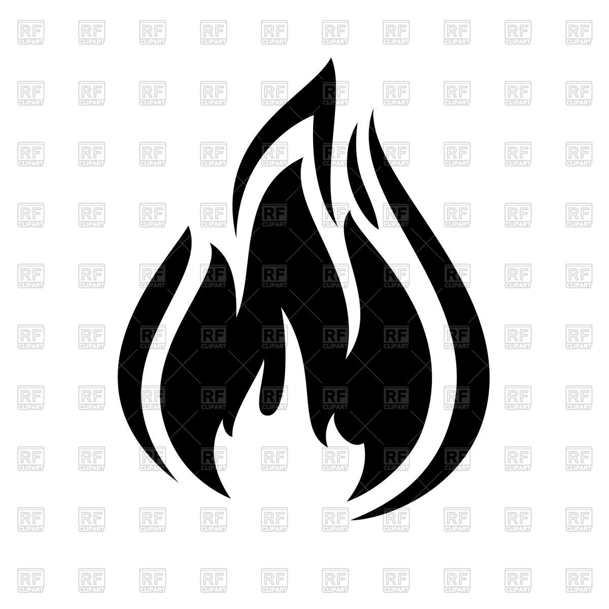 1200x1200 Fire Flame Icon Vector Image Vector Artwork Of Signs, Symbols