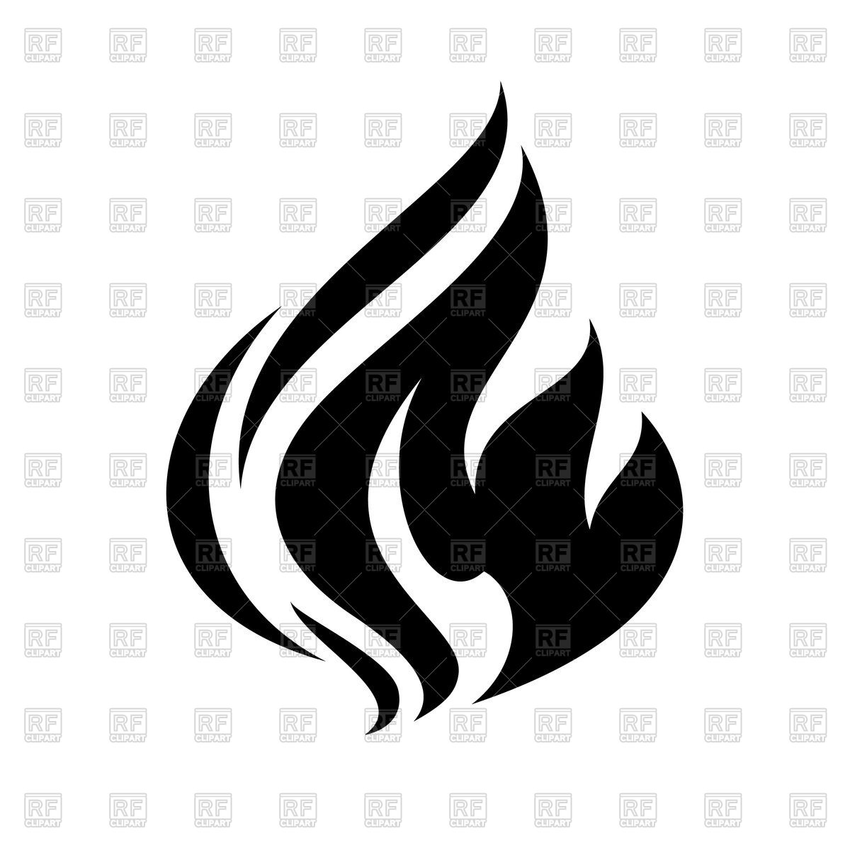 1200x1200 Fire Flame Icon Isolated On White Background Vector Image Vector