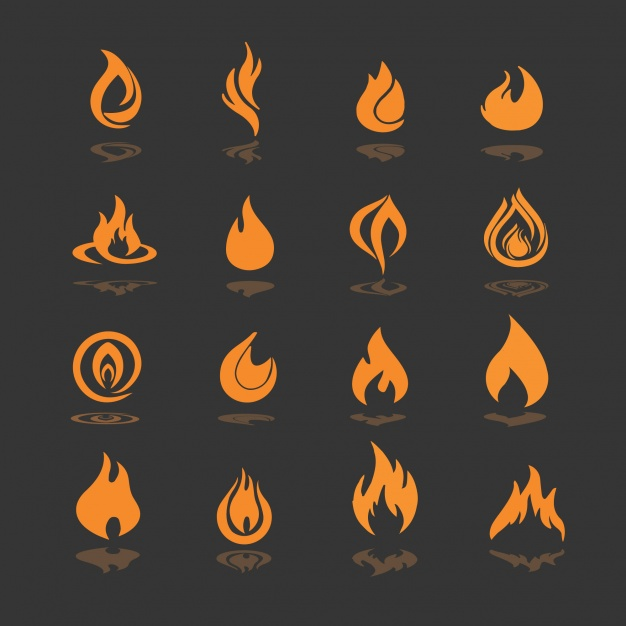 626x626 Fire Icons Collection Vector Free Download