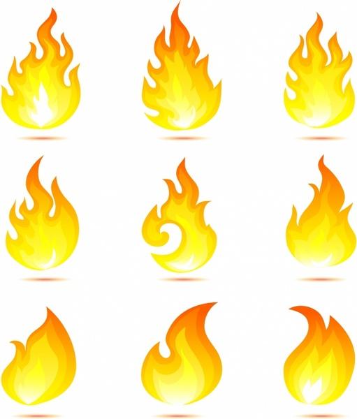 511x600 Flame Icons Free Vector In Adobe Illustrator Ai ( .ai