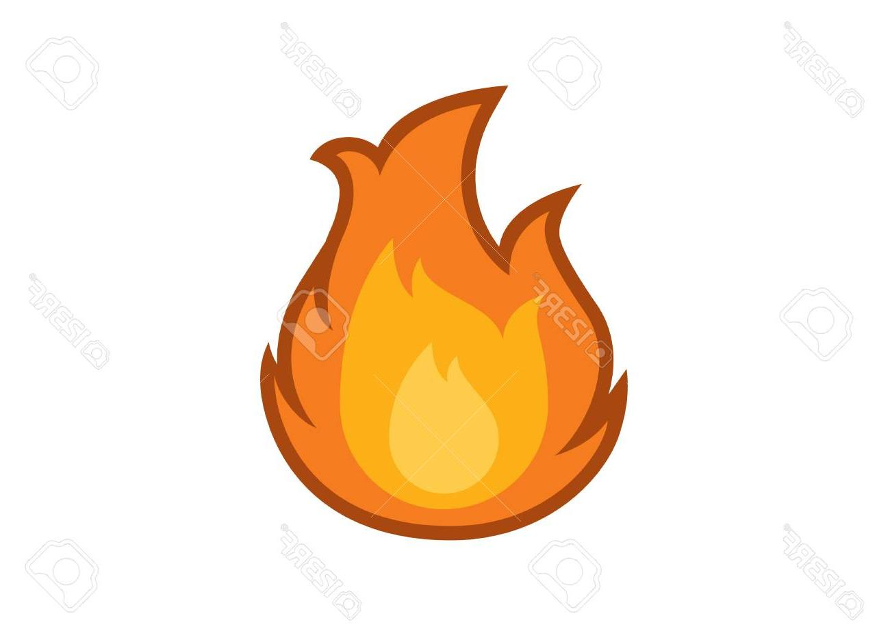 1300x919 Best 15 Flame Icon Vector Fire On White Background Drawing