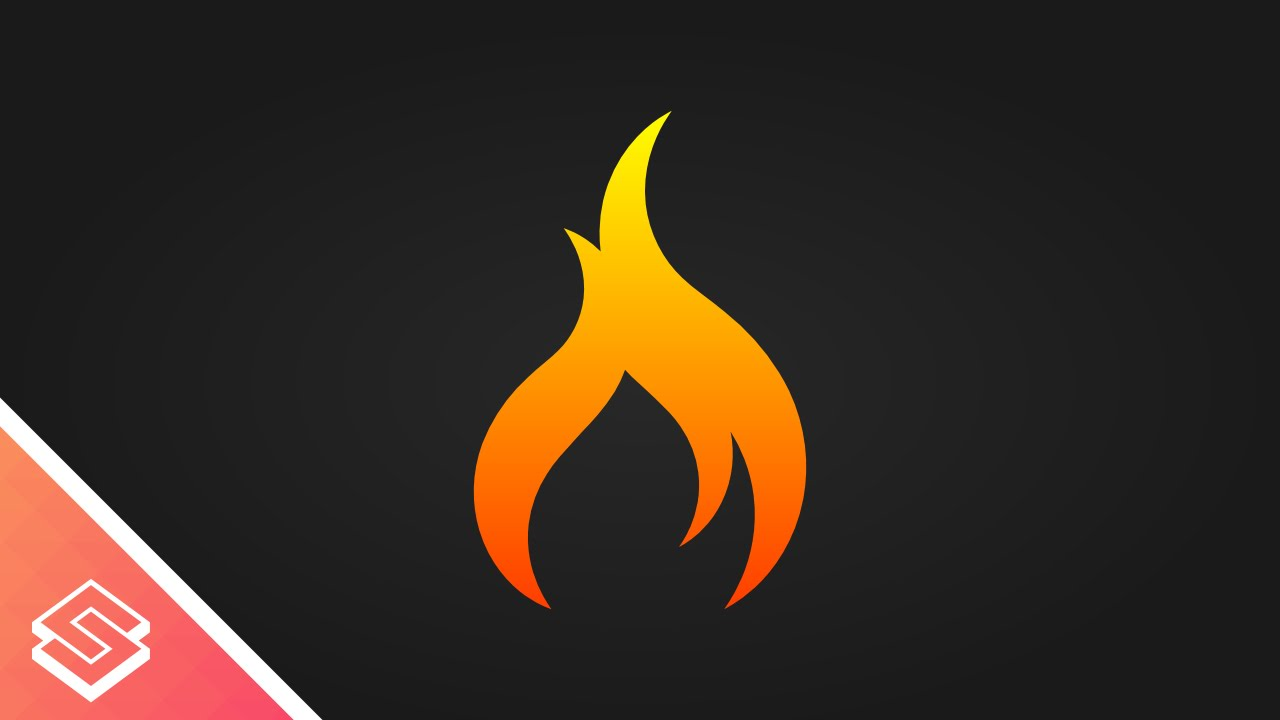 1280x720 Inkscape Tutorial Vector Flame Icon