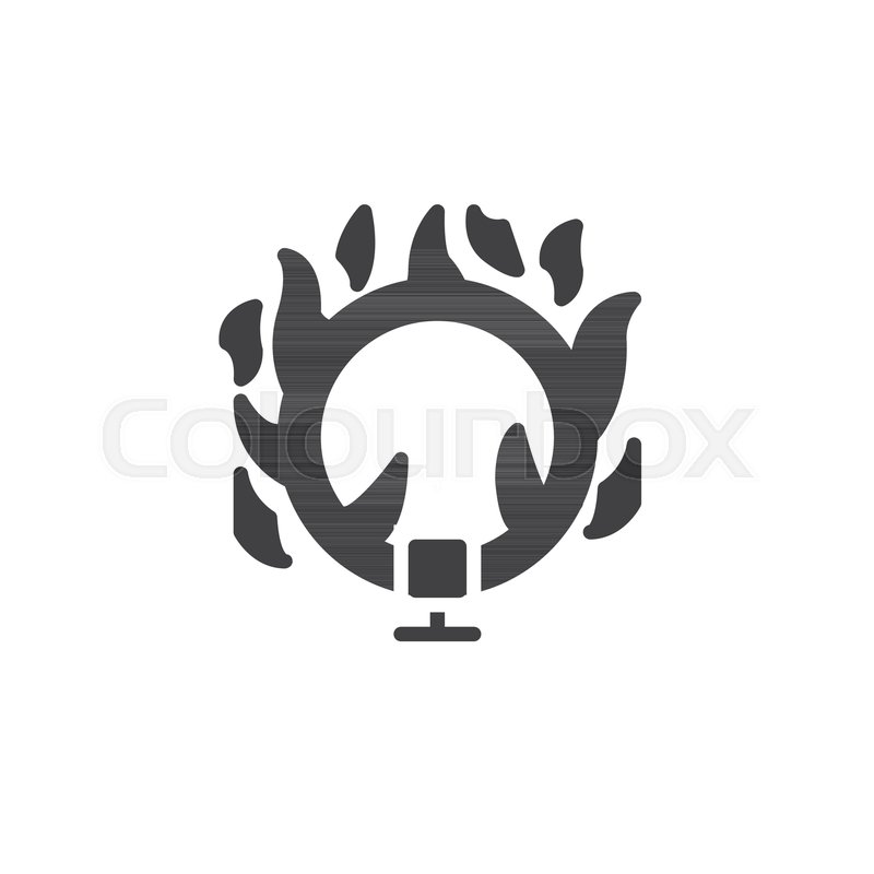 800x800 Ring Of Fire Icon Vector, Filled Flat Sign, Solid Pictogram