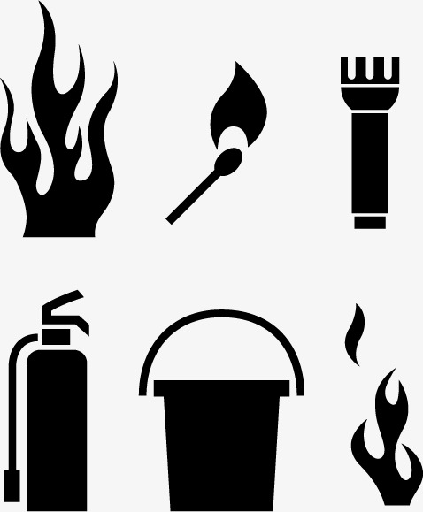 478x579 Fire Icon Material Elements Of Black And White, Fire Vector, Icon