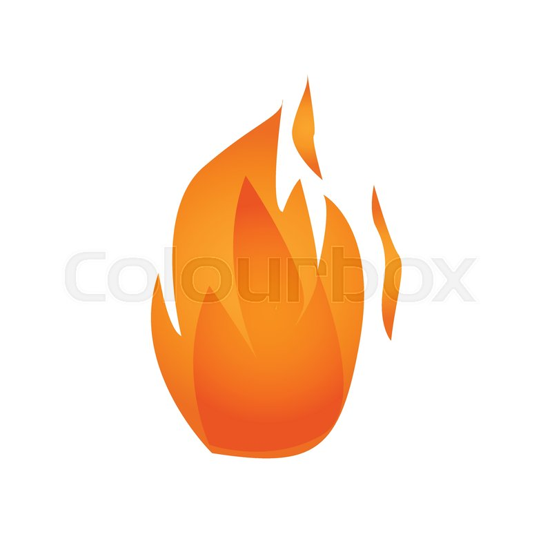800x800 Vector Illustration. Fire Logo. Red, Yellow Fire Stock Vector