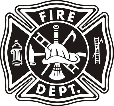 400x372 Firefighter Maltese Cross Vector Art