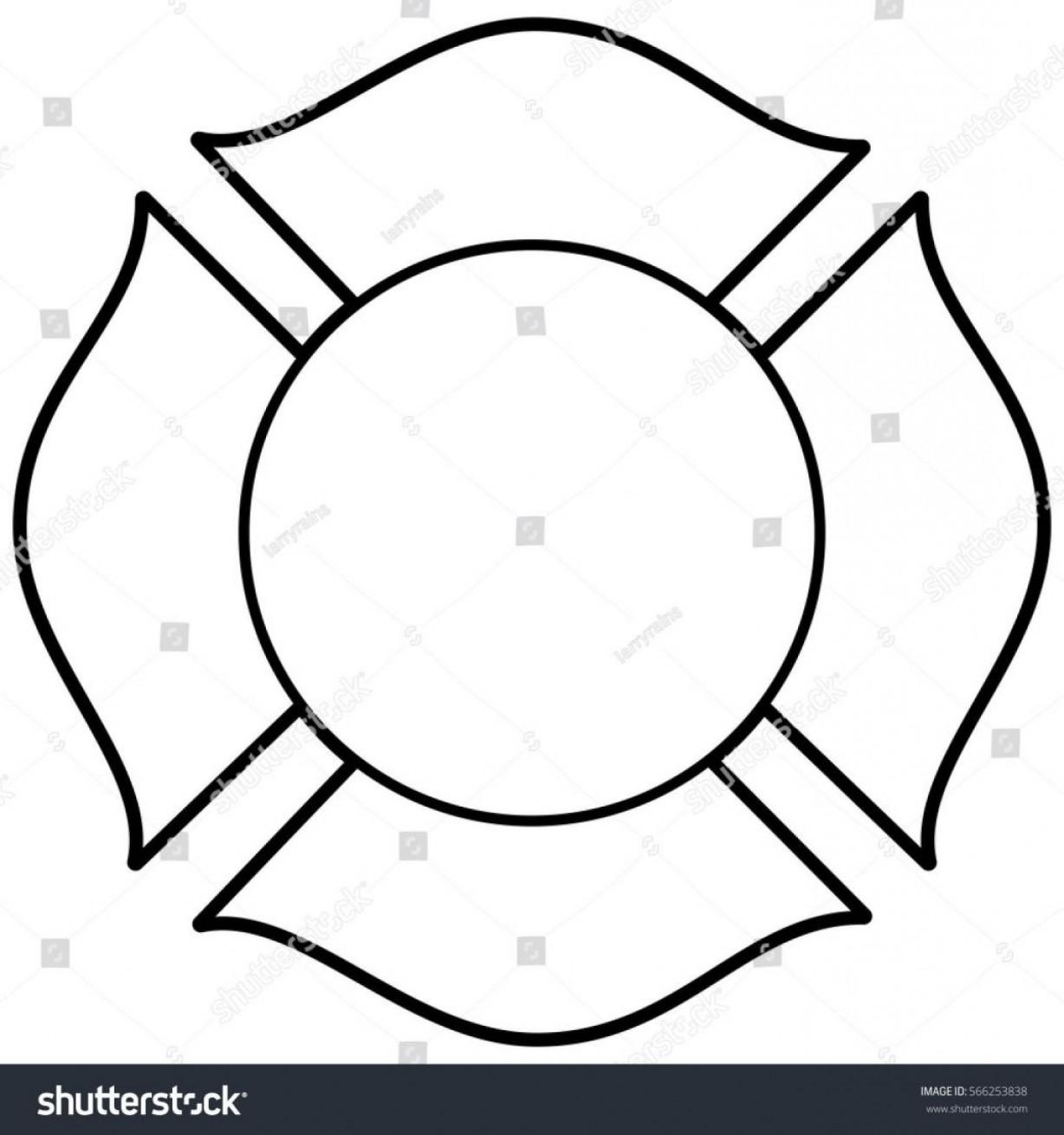 1228x1310 Blank Firefighter Maltese Cross Vector Sohadacouri