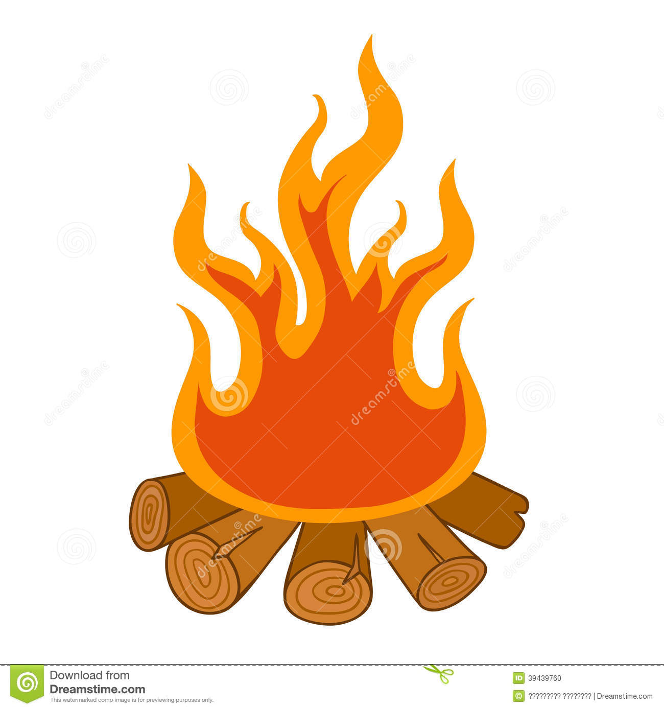 1300x1390 Camp Fire On White Background Stock Vector Image 39439760 Wood