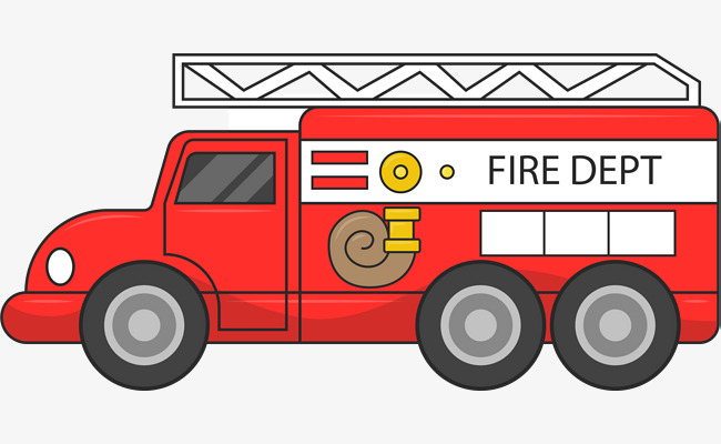 650x400 Fire Rescue Fire Engine, Fire Vector, Engine Vector, Cartoon Png