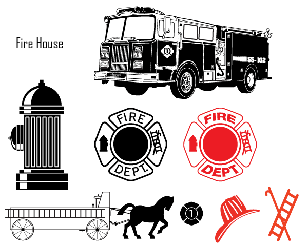600x480 Fire Department Vector Images Free Download Fire Engine, Fire