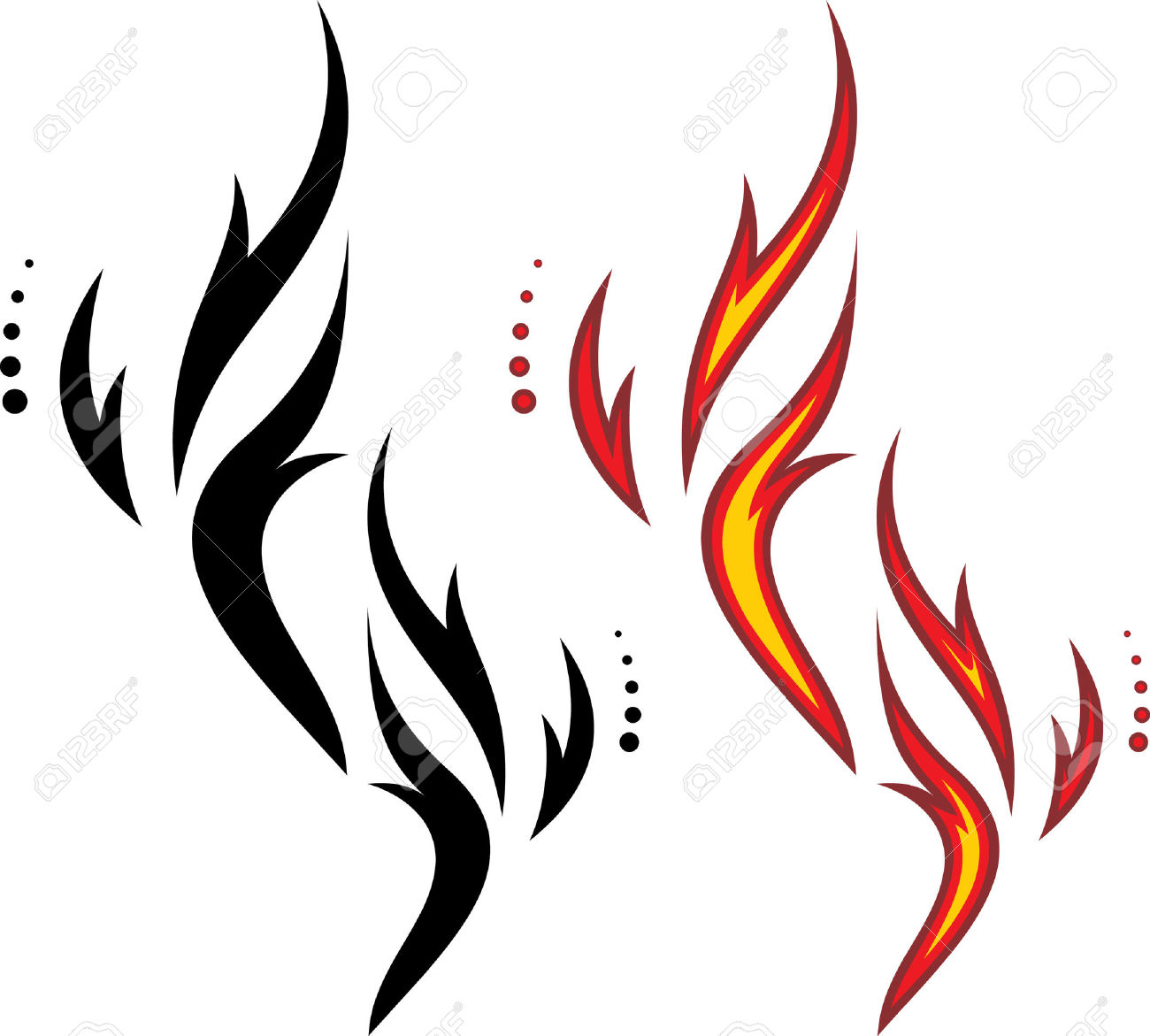 Fire Vector Black