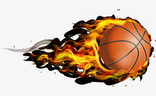 650x400 Flying Fireball Basketball, Basketball Vector, Basketball Clipart