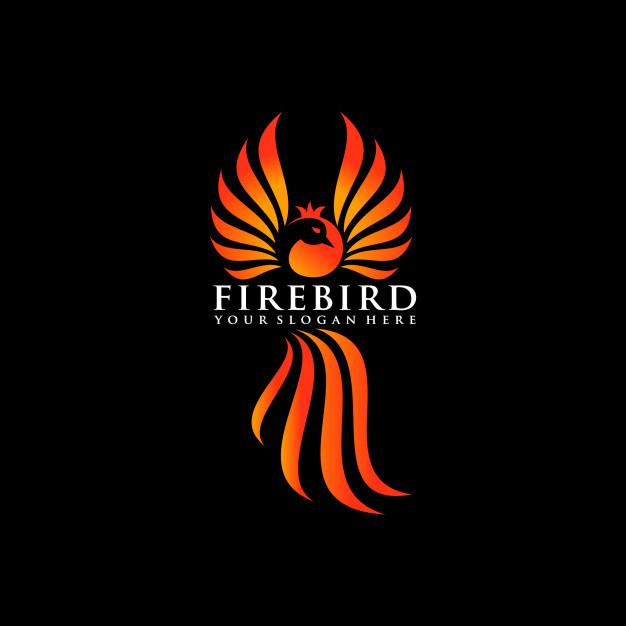 626x626 Phoenix Bird Vector Logo, Pomegranate Bird Logo. Vector Premium