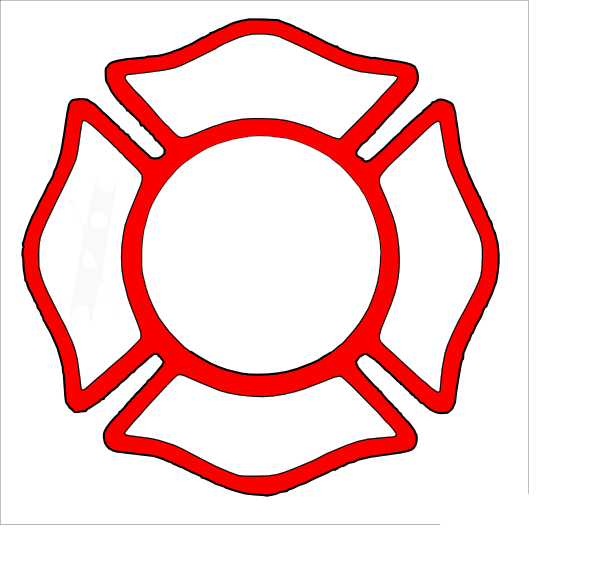 Firefighter Badge Vector