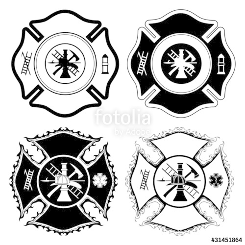 500x500 Firefighter Cross Symbols Stock Image And Royalty Free Vector