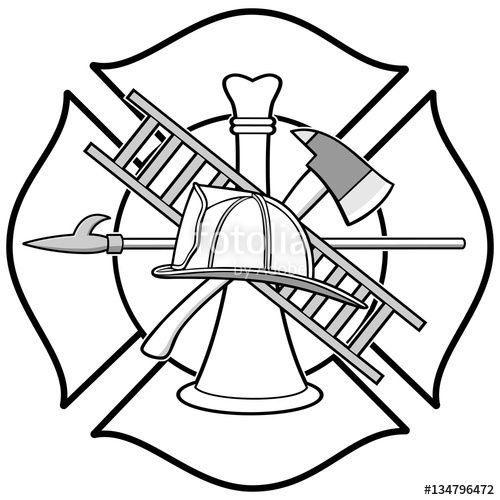 500x500 Firefighter Honor Badge Stock Image And Royalty Free Vector Files