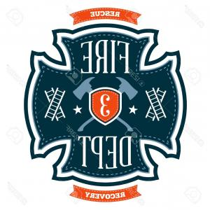300x300 Set Of Fire Department Emblems And Badges Vector Geekchicpro