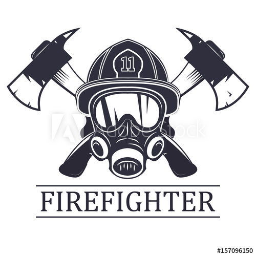 500x500 Firefighter . Emblem, Icon, Logo. Fire. Mask Firefighter And Two