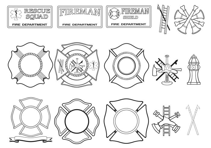 700x490 Fire Department Vector Pack