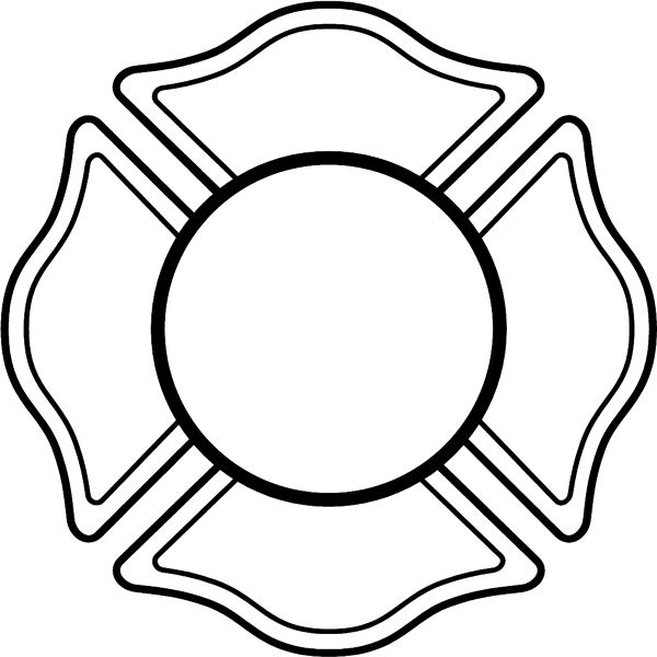 600x600 Collection Of Fireman Badge Clipart High Quality, Free