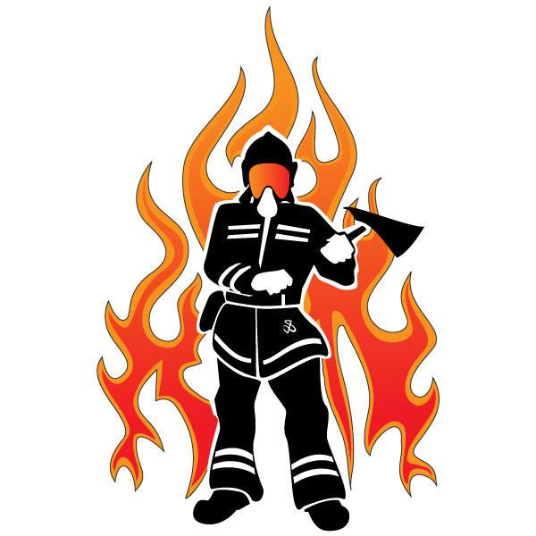 600x600 Fireman Vector 123freevectors