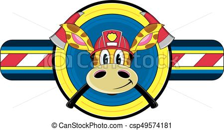 450x262 Cute Cartoon Giraffe Fireman