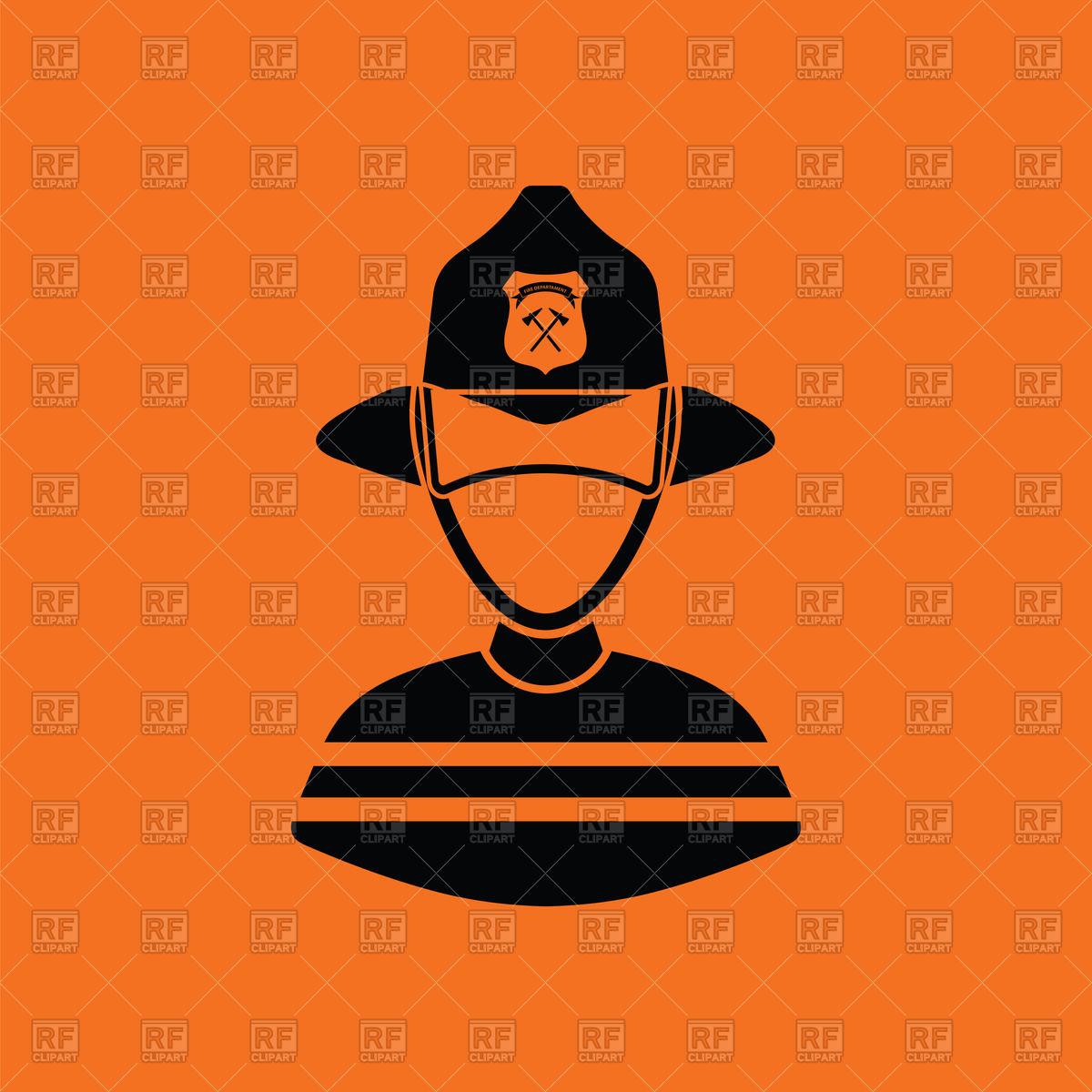 1200x1200 Fireman Icon On Orange Background