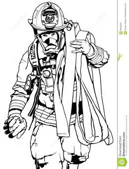 260x340 Download Black And White Firefighter Vector Clipart Firefighter