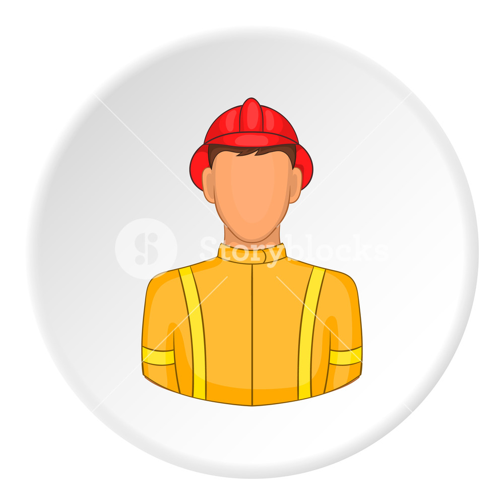 1000x1000 Firefighter Icon. Flat Illustration Of Firefighter Vector Icon For
